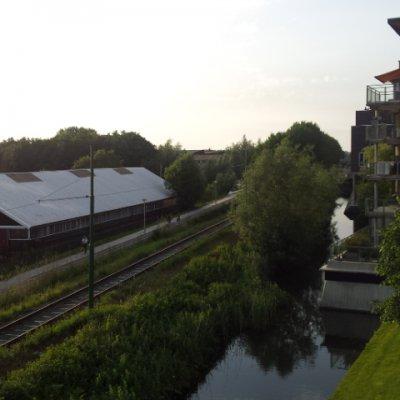 Asterdam. arkadaşın balkonundan