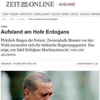 Die Zeit: Erdoğan'ın sarayında ayaklanma
