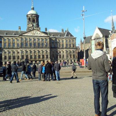 2013 Şubat 22 - Amsterdam çok soğuk ama güneşli - Dam alanı, Saray.